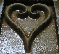 Heart produced by CNC