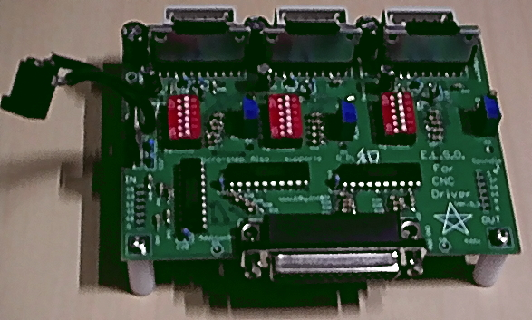 Electronic circuit board with a 3-axis stepper motor driver interface CNC Milling Machine